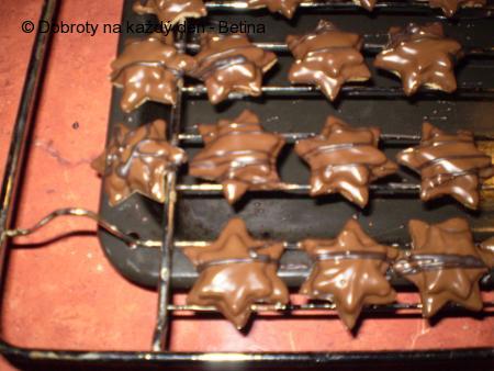 Ořechovo-čokoládové hvězdičky