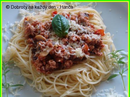 Pikantní mleté maso na špagety