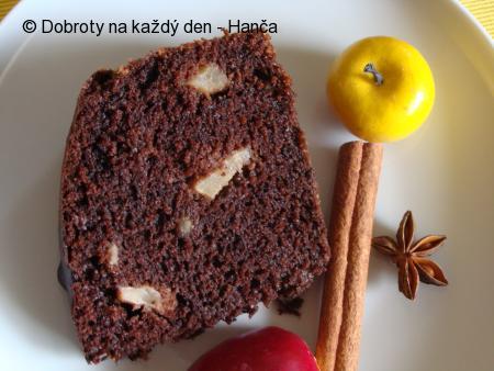 Čokoládový perník s jablky