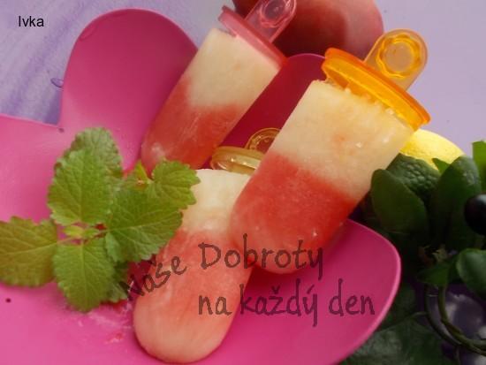 Dvoubarevné melounové  domácí  nanuky