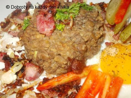 Čočka nakyselo s kaparovo- hořčičnou chutí