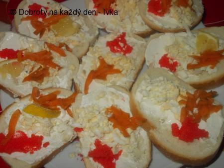 Chlebíčky s kaviárem