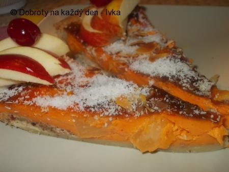 Křehký moučník s tvarohovou nádivkou a meruňkovo-mrkvovou marmeládou