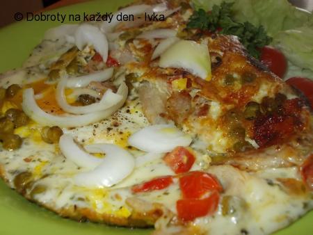 Omeleta se žampiony  a  barevnou zeleninou