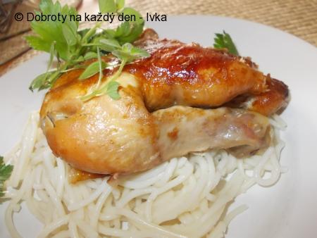 Kuře na česnekovo- petrželkové směsi