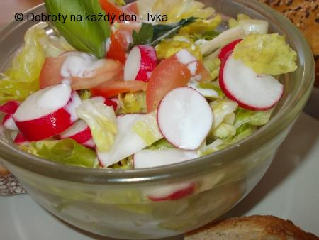 Zdravý, barevný zeleninový salátek