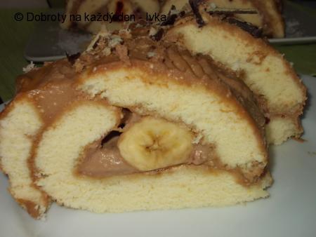 Rychlý moučník s banánem a karamelovým krémem