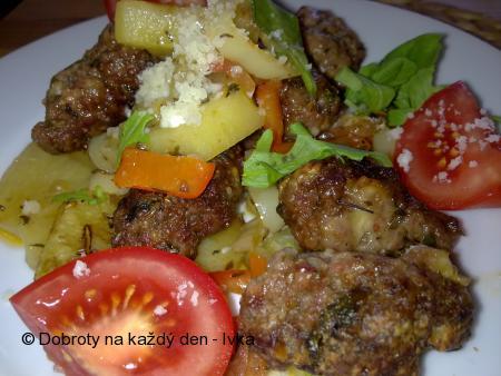 Pikantní kefty-šišky se zeleninou a sýrem