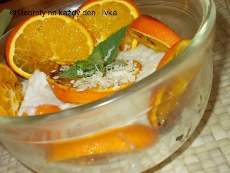 Rýžový pudink s mandlemi a pomeranči