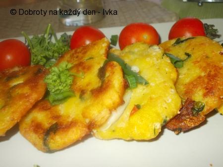 Chřestovo-špenátové,bramborové placičky