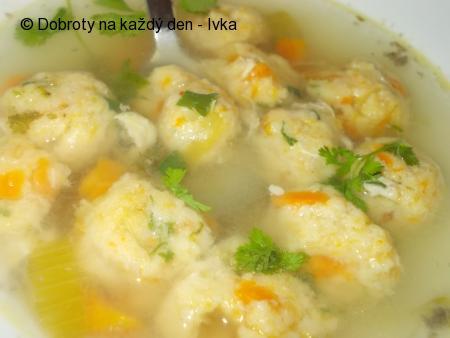Řapíkato-mrkvové knedlíčky do polévky