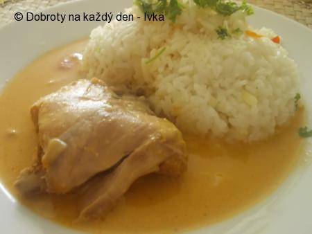 Kuře  nadivoko, s paprikovou pastou, řapíkatým celerem a zeleninou
