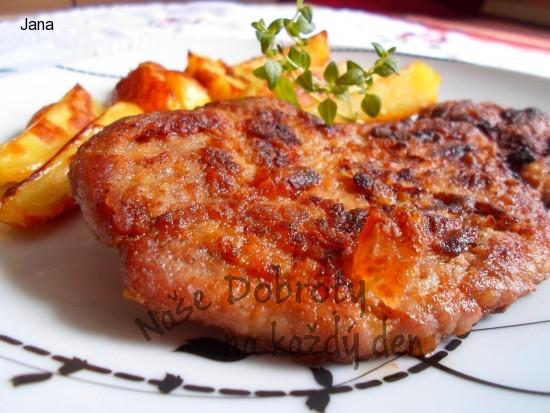 Steak z krkovice v hořčičné marinádě