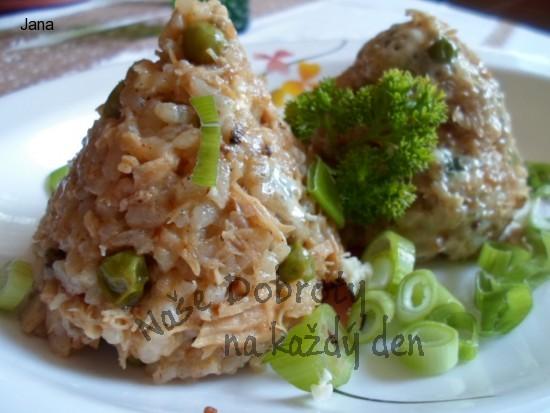 Lehké krůtí rizoto z vařeného masa