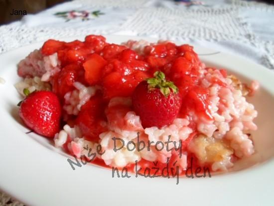 Rýžový ovocný nákyp