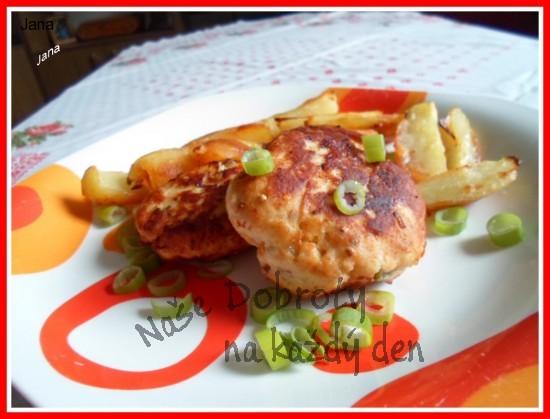 Placičky z kuřecího, nebo krůtího masa