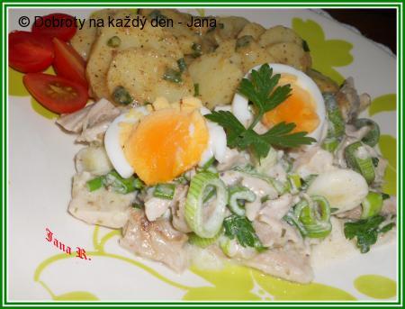 Lehký kuřecí salát s brambory
