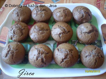 Kakaovo-banánové muffiny