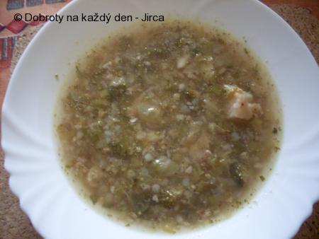 Zdravá polévka s pohankou