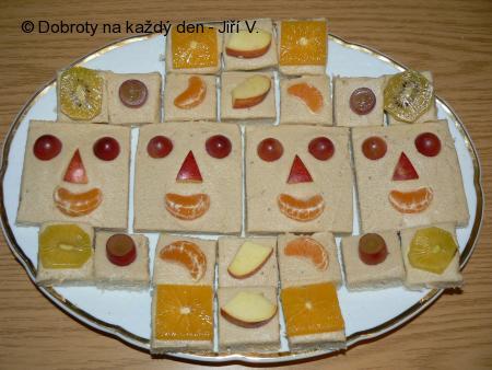 Ovocné sendviče pro děti