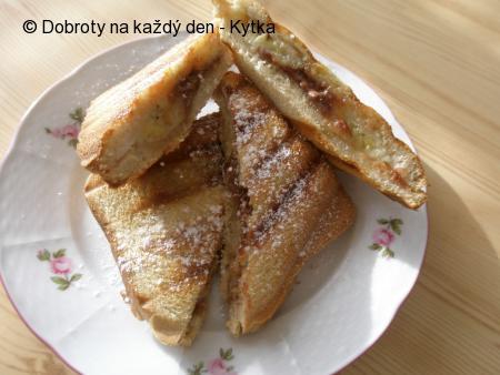 Banánové čokou-toasty