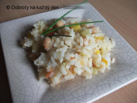 Celerová rýže s cizrnou