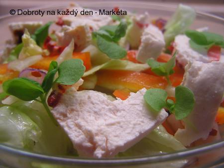 Zeleninový salát s Čerstvým sýrem mexiko