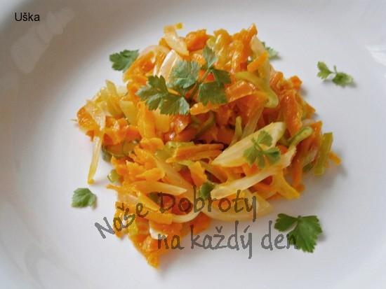 Dušená zelenina v pomerančové šťávě
