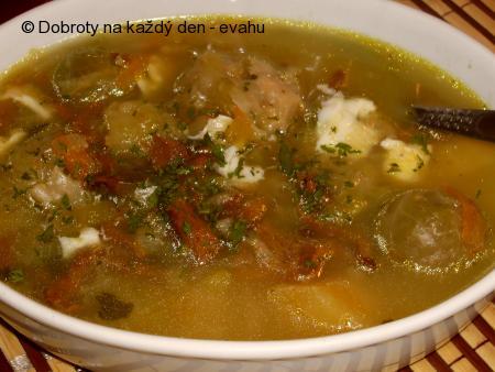 Polévka zeleninová s liškami