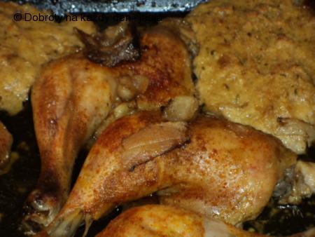 Kuře se sousedkou nádivkou