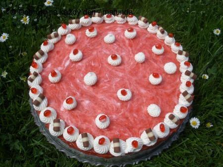 tvarohový dort s jahodama