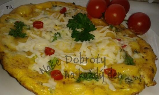 Omeleta z gnocchi a nivou