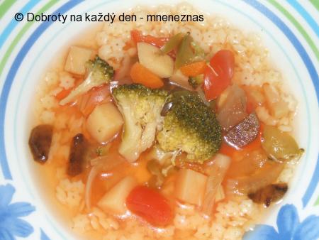 Zeleninová polévka s hvězdičkami