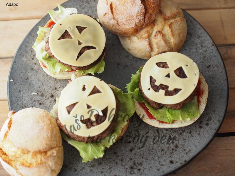 Zapečené Halloween Burgery