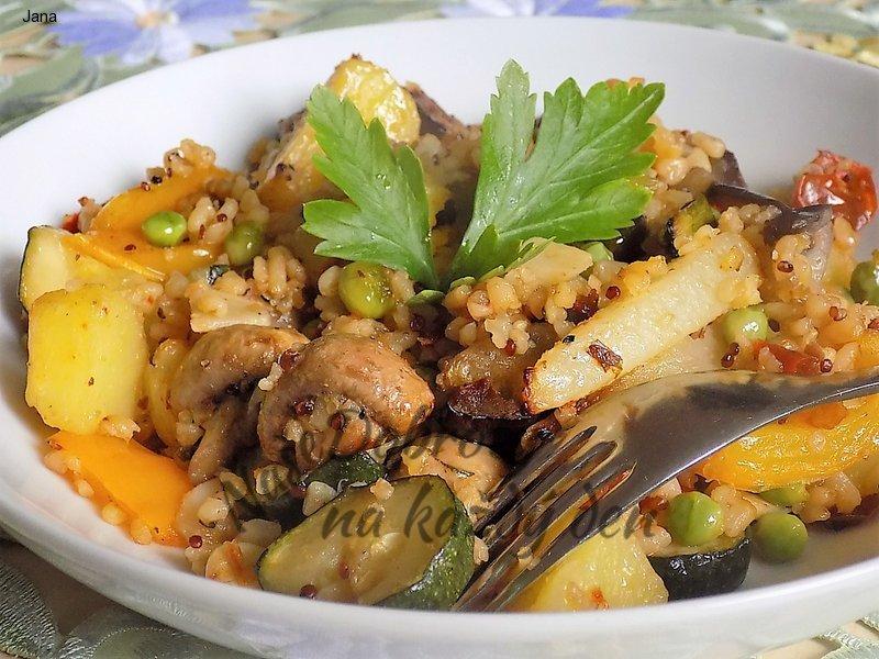Grilovaná zelenina s bulgurem