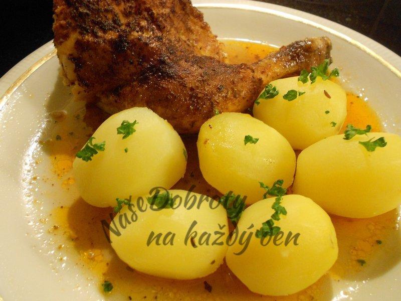 Pomalu pečené kuře