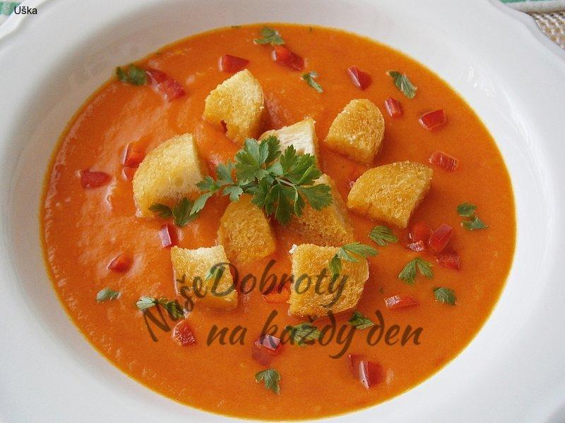 Zeleninový krém s paprikou