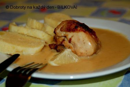 Kuře s vinnou omáčkou