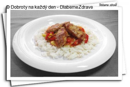 Kuřecí kousky s jasmínovou rýží