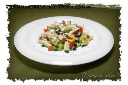 Těstovinový salát s fetou