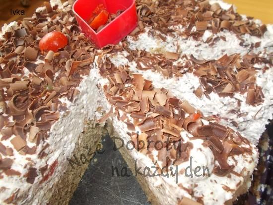 Kávový dort z kofilou a ledovými kaštany a jogurty