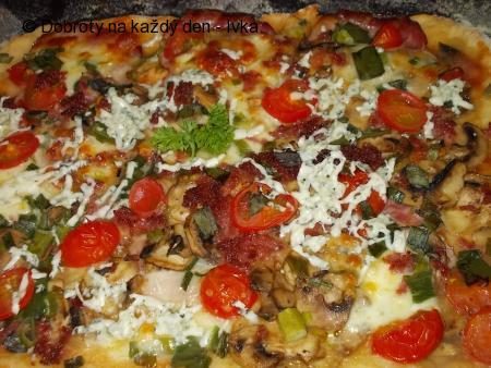 Blesková  pizza z jogurtu, nebo z kefíru