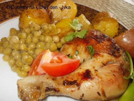 Bylinková kuřata s vinnou omáčkou