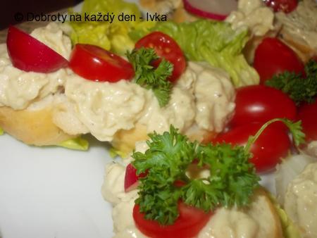 Pomazánka  bramborovo-ančovičková s vejcem
