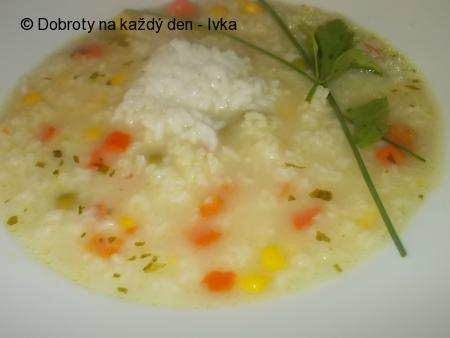 Zdravá polévka s rýží - z droždí, zeleniny a kari koření