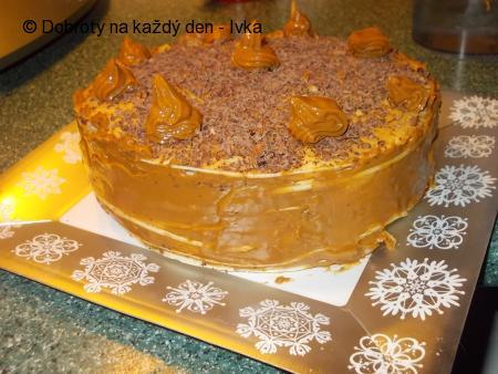 """Dortík- manželovi k narozeninám,  nazvaný  """"karamelka lázeňská"""""""