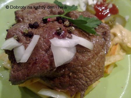 Šťavnatý  steak -