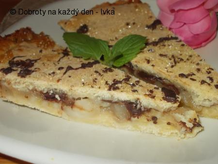 Variace na hruškovou crostatu se skořicí a čokoládou