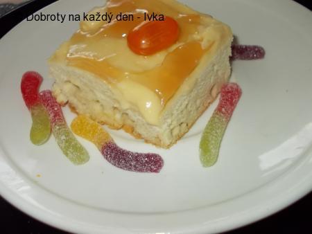 Řezy z bílé čokolády s pomerančovým krémem