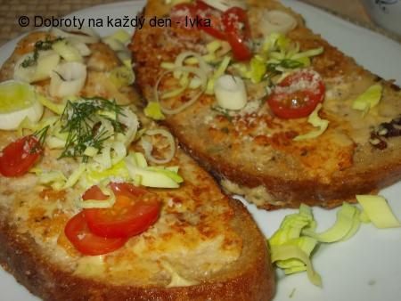 Chléb obalený v nádivce z receptu
